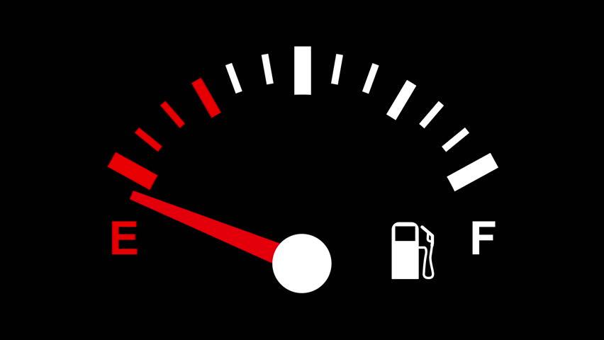ガソリンを空っぽに